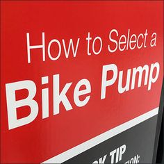 Being a cyclist I might not think this a difficult choice. But yes, starting out, How To Select A Bicycle Pump Instructions would have been appreciated. Bicycles, The Selection, Retail, Pumps, Pumps Heels, Pump Shoes, Bike, Sleeve, Bicycle