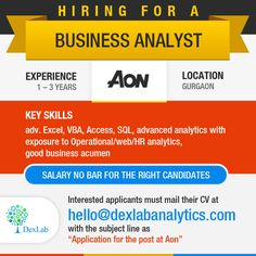 Hiring for a #BusinessAnalyst