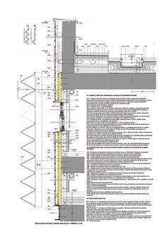 Façade's detail. Public multifunctional building in Sant Martí by SUMO Arquitectes + Yolanda Olmo.