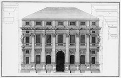 Andrea Palladio: Palazzo Valmarana, 1565, Vicenza, Italy; main elevation by Ottavio Bertotti Scamozzi, 1776