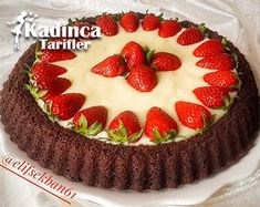 Tart Cake Recipe with Cocoa Cream – Feminine Recipes – Delicious, Practical and Most Exquisite Recipes Site - Schokolade Chocolate Gifts, Chocolate Peanuts, Best Chocolate, Cake Chocolate, Mini Tortillas, Peanut Butter Oatmeal Bars, Recipe Sites, Turkish Recipes, Summer Desserts