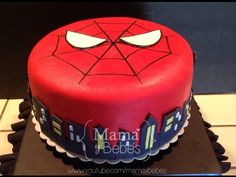 Torta del HOMBRE ARAÑA con masa elástica - YouTube Baby Shawer, Superhero Party, Birthday Parties, Birthday Cakes, Birthday Ideas, Donuts, First Birthdays, Fondant, Cooking Recipes