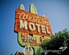 Western Motel (Santa Clara, CA).   Vintage sign photography by Recapturist. Purchase as a print or canvas. Many sizes available. http://www.recapturist.com/portfolio/western-motel/