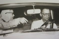 Marilyn and Arthur Miller driving to Roxbury, 24 June, 1956.