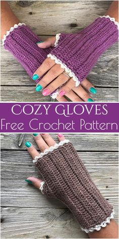 New Crochet Patterns Free Fingerless Gloves Colour Ideas Crochet Fingerless Gloves Free Pattern, Fingerless Gloves Knitted, Mittens Pattern, Crochet Scarves, Crochet Hats, Crochet Poncho, Crochet Hand Warmers, Crochet Accessories, Free Crochet