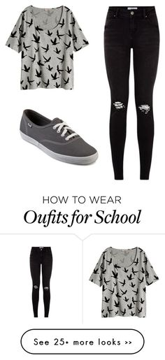 """School!"" by aglriveraraga on Polyvore"