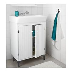 """IKEA - SILVERÅN / HAMNVIKEN, Sink cabinet with 2 doors, 23 5/8x17 3/4x35 5/8 """", , Adjustable feet. This will fit in our current vanity's space perfectly."""