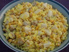 Monia miesza i gotuje: Żółta sałatka ryżowa z kurczakiem