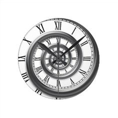 Shop Roman Spiral Wall Clock created by kbilltv. Personalize it with photos & text or purchase as is! Pocket Watch Drawing, Pocket Watch Tattoos, Pocket Watch Tattoo Design, Time Piece Tattoo, Time Tattoos, Sleeve Tattoos, Clock Tattoo Design, Wall Clock Design, Bussola Tattoo