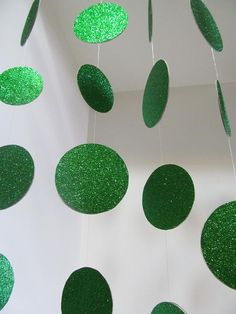 emerald green glitter garland