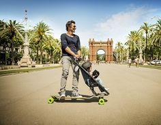 Longboardstroller, un modo divertente per girare la città http://www.differentdesign.it/longboardstroller-un-modo-divertente-per-girare-la-citta/ Un #passeggino con skateboard integrato per girare la città in lungo e in largo!