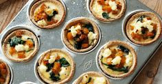 Try this simple but tasty and healthy quiche recipe for a practical snack on the go.
