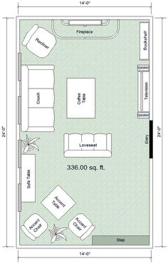 16 x 16 living room floor plan options without fireplace Fred
