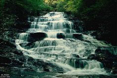 Waterfall Near Helen, GA