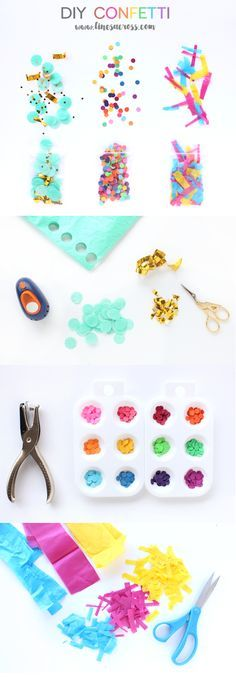 Lines Across: DIY Confetti - Make a Beautiful Mess
