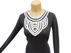 Satin Lace necklace, White, Romantic necklace, Blouse Applique, Satin collar, Stripes necklace, Handmade, Designer Lace, FREE SHIPPING