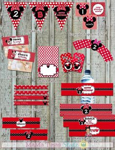 Minnie Mouse Printable Kit