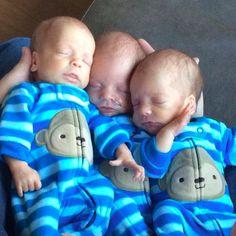 Rare Identical Triplets Born in Montana Newborn Triplets, Newborn Baby Dolls, Reborn Babies, Sweet Baby Photos, Cute Baby Pictures, Newborn Pictures, Cute Little Baby, Baby Kind, Little Babies