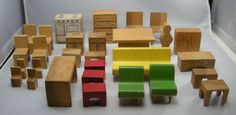 Creative Playthings Vintage Doll House Furniture $55.00, on Etsy.