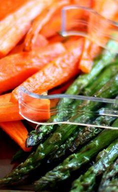 Roast Carrots and Asparagus