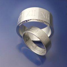 #Förlovningsringar med unik gravyr. www.alskadebarn.se #Engagementrings #nyförlovade #engaged #silverringar #vigselringar Personalized Jewelry, Rings For Men, Abs, Wedding Rings, Engagement Rings, Personalised Jewellery, Enagement Rings, Custom Jewelry, Men Rings