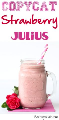 Copycat Strawberry Julius Recipe! ~ from TheFrugalGirls.com ~ you will LOVE this easy copycat Orange Julius menu drink recipe for the most delicious smoothie ever!! #orangejulius #recipes #thefrugalgirls