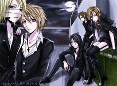 the GazettE anime style
