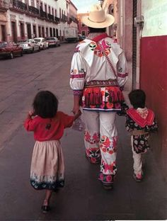Huichol Mexican Indians in Zacatecas