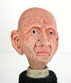 Oude man gemaakt van sculpey polymeerklei