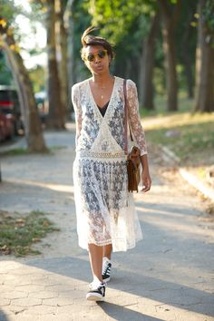 Perfect way to wear all-over lace