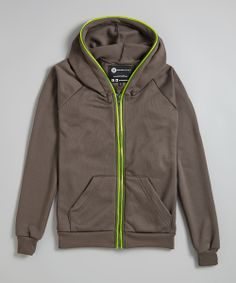 Smoke & Lime Light-Up Zip-Up Hoodie