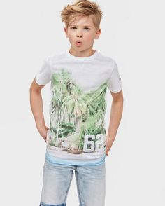 JONGENS TROPICAL T-SHIRT Wit