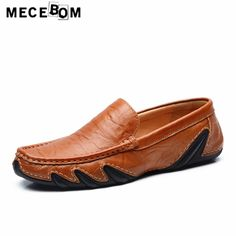 45.00$  Buy here - http://alib3q.shopchina.info/1/go.php?t=32820483547 - Men loafers leisure genuine lether casual shoes autumn breathable slip-on flat quality men shoes comfort size 38-44 1718m  #shopstyle