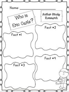 Eric Carle Author Study ~ Mini Unit  Freebie in the Download preview :o)