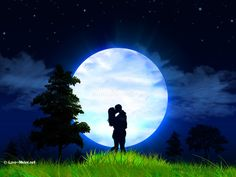 Love and Romance  Love Wallpaper with Couples and Moonlight