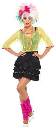 Smiffy's - Costume per travestimento anni '80 Pop Tart, Donna, incl. abito, top e fascia per capelli, S