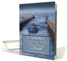 Fishing Boat in from Storm Fathers Day for Father card (1052747) by Rosemary Freeman
