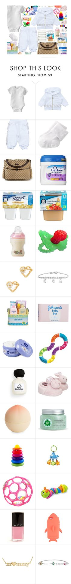 """""""Promises • Jhene Aiko"""" by j-ungle-x ❤ liked on Polyvore featuring Old Navy, Young Versace, BOBBY, Gucci, Gerber, FRUIT, Alex Monroe, Johnson's Baby, Nivea and H&M"""