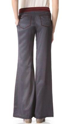 10 Crosby Derek Lam Printed Wide Leg Pants