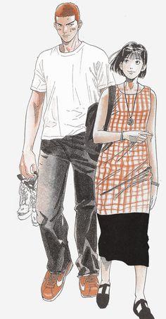 Mitchi — Slam Dunk, Sakuragi and Haruko in a date.