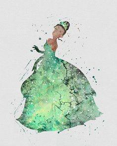 Princess tiana 2 watercolor art print ideas for aspen disney Disney Pixar, Deco Disney, Disney And Dreamworks, Tiana Disney, Disney And More, Disney Love, Disney Magic, Disney Pop Art, Princesa Tiana