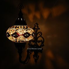 Handmade Turkish Moroccan Style Mosaic Wall Sconce Lamp Light Large Globe
