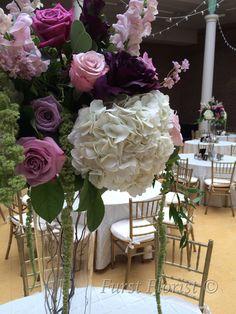 vintage elegance wedding centerpiece by Furst #FurstEvents #daytonweddings