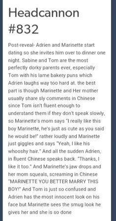 READ THIS!!!! THIS NEEDS TO HAPPEN IN THE SHOW!!! || well, this is funny, since Adrien is fluent in Chinese and Marinette knows it, while Marinette can barely speak a few words. it's cute though *-*