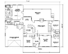Simple Rambler House Plans With Three Bedrooms Small