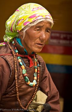 Ladakhi Lady with Traditional Jewelry by viwehei, via Flickr