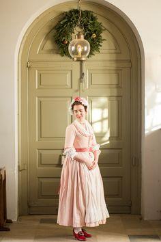 · Pink 1770s Round Gown ·
