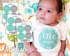 FREE GIFT Baby Month Stickers Gender Neutral Gender by ModishCC