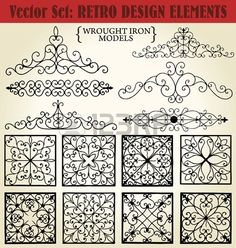 Ideas: Wrought Iron models Stock Photo - 12072733 (can be used as toilet paper roll wall decorations)More good patterns for toilet aper roll projects.Illustration of Wrought Iron models vector art, clipart and stock vectors.Amazing and Unique Tips an Toilet Paper Roll Art, Toilet Paper Roll Crafts, Recycled Door, Design Retro, Wrought Iron Decor, Iron Wall Decor, Metal Tree Wall Art, Metal Art, Design Elements