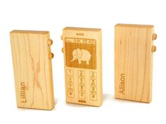 Personalized wooden iphone toy for kids! Aren't they better when the ring is imaginary?